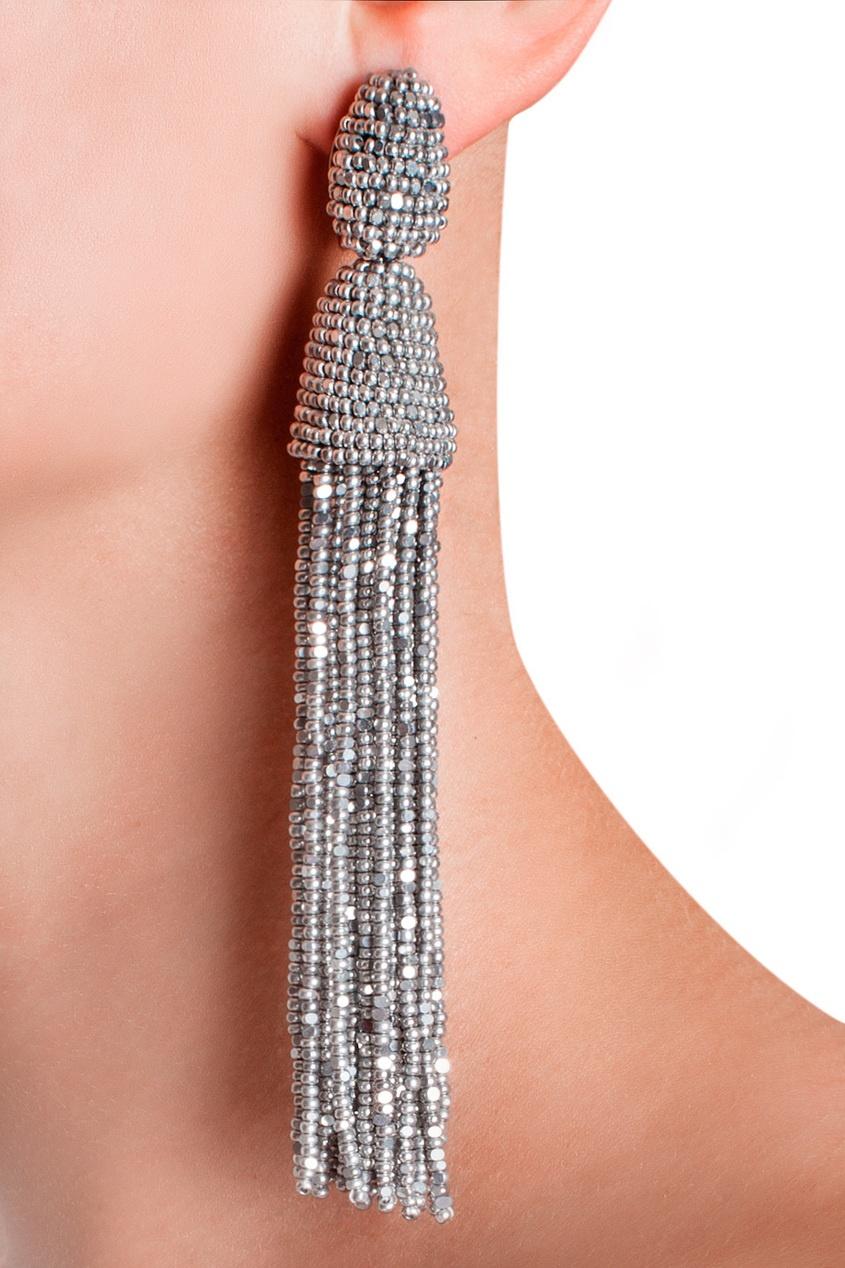 Серьги оскар кисточки - Мастер класс по плетению сережек-кисточек из бисера