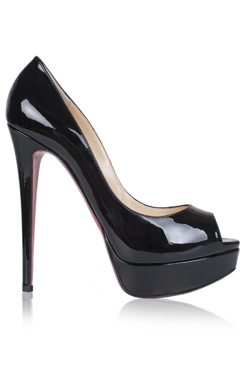 Christian Louboutin Кожаные туфли Lady Peep 150
